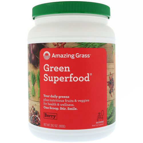 Amazing Grass, Green Superfood, Berry, 1.7 lbs (800 g) فوائد