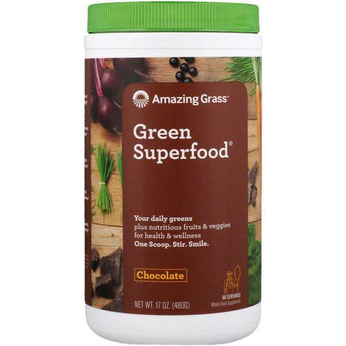 Amazing Grass, Green Superfood, Chocolate, 17 oz (480 g) فوائد