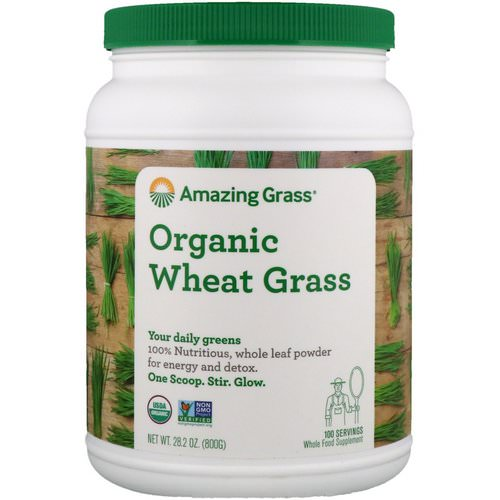Amazing Grass, Organic Wheat Grass, 1.8 lbs (800 g) فوائد