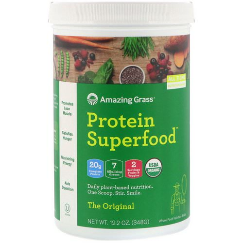 Amazing Grass, Protein Superfood, The Original, 12.2 oz (348 g) فوائد