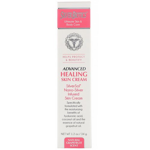 American Biotech Labs, Advanced Healing Skin Cream, Natural Grapefruit Scent, 1.2 oz (34 g) فوائد