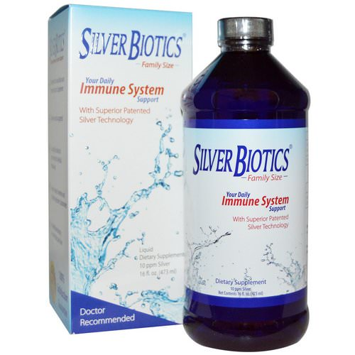 American Biotech Labs, Silver Biotics, Immune System Support, 10 PPM, 16 fl oz (472 ml) فوائد