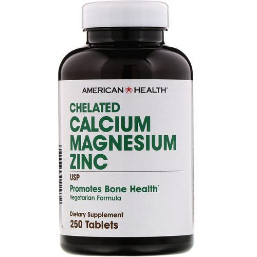 American Health, Chelated Calcium Magnesium Zinc, 250 Tablets فوائد