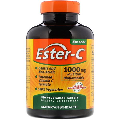 American Health, Ester-C with Citrus Bioflavonoids, 1,000 mg, 180 Vegetarian Tablets فوائد