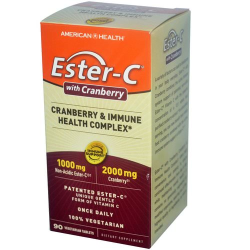 American Health, Ester-C with Cranberry & Immune Health Complex, 90 Veggie Tabs فوائد