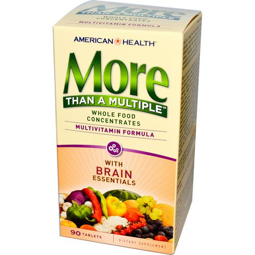 American Health, More Than A Multiple with Brain Essentials, 90 Tablets فوائد