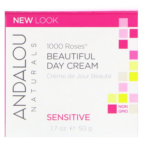 Andalou Naturals, 1000 Roses Beautiful Day Cream, Sensitive, 1.7 oz (50 ml) فوائد
