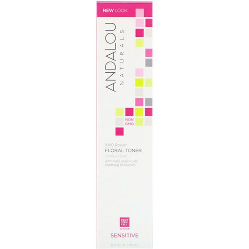 Andalou Naturals, Floral Toner, 1000 Roses, Sensitive, 6 fl oz (178 ml) فوائد