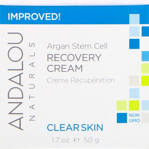 Andalou Naturals, Argan Stem Cell Recovery Cream, Clearer Skin, 1.7 fl oz (50 ml) فوائد