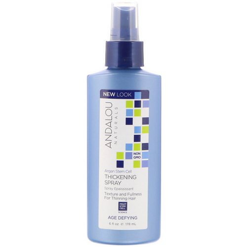 Andalou Naturals, Argan Stem Cell Thickening Spray, Age Defying, 6 fl oz (178 ml) فوائد