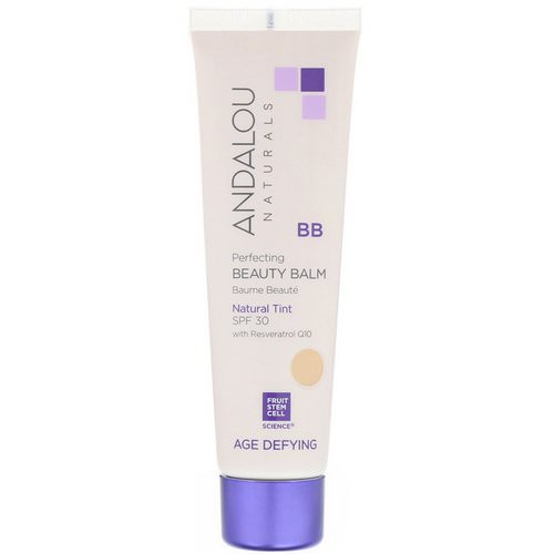 Andalou Naturals, BB Perfecting Beauty Balm, Age Defying, SPF 30, Natural Tint, 2 fl oz (58 ml) فوائد