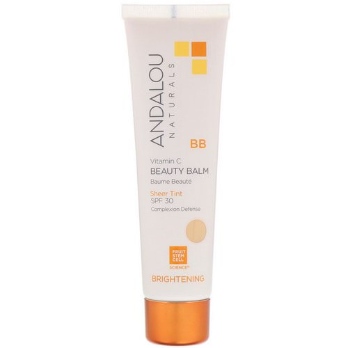 Andalou Naturals, BB Vitamin C Beauty Balm, Brightening, SPF 30, Sheer Tint, 2 fl oz (58 ml) فوائد