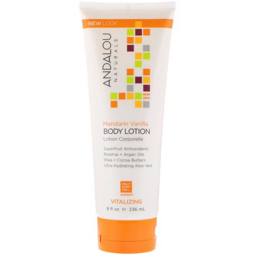 Andalou Naturals, Body Lotion, Vitalizing, Mandarin Vanilla, 8 fl oz (236 ml) فوائد