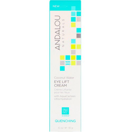 Andalou Naturals, Coconut Water Eye Lift Cream, Quenching, 0.60 fl oz (18 g) فوائد