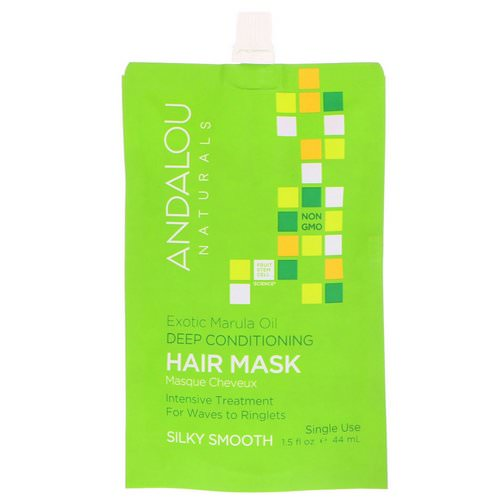 Andalou Naturals, Exotic Marula Oil Deep Conditioning Hair Mask, 1.5 fl oz (44 ml) فوائد