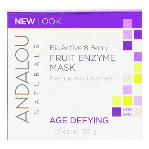 Andalou Naturals, Fruit Enzyme Mask, BioActive 8 Berry, Age Defying, 1.7 oz (50 g) فوائد
