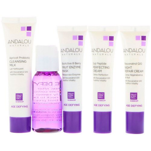 Andalou Naturals, Get Started, Age Defying, Skin Care Essentials, 5 Piece Kit فوائد