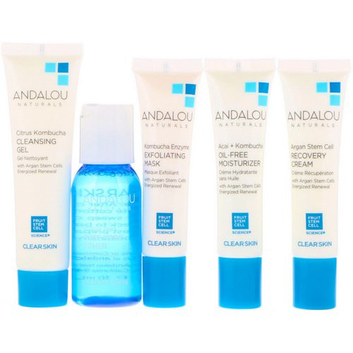 Andalou Naturals, Get Started Clarifying, Skin Care Essentials, 5 Piece Kit فوائد
