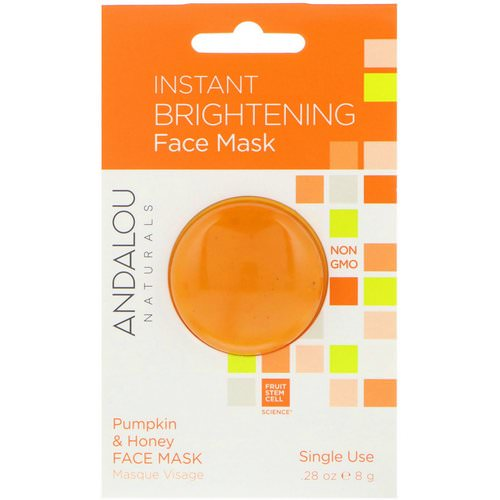Andalou Naturals, Instant Brightening Face Mask, Pumpkin and Honey, .28 oz (8 g) فوائد