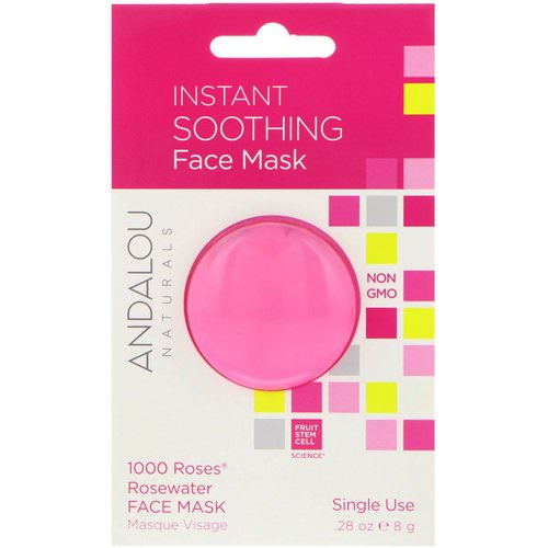 Andalou Naturals, Instant Soothing, 1000 Roses Rosewater Face Mask, .28 oz (8 g) فوائد