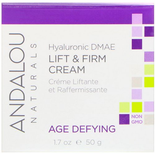 Andalou Naturals, Lift & Firm Cream, Hyaluronic DMAE, 1.7 oz (50 g) فوائد