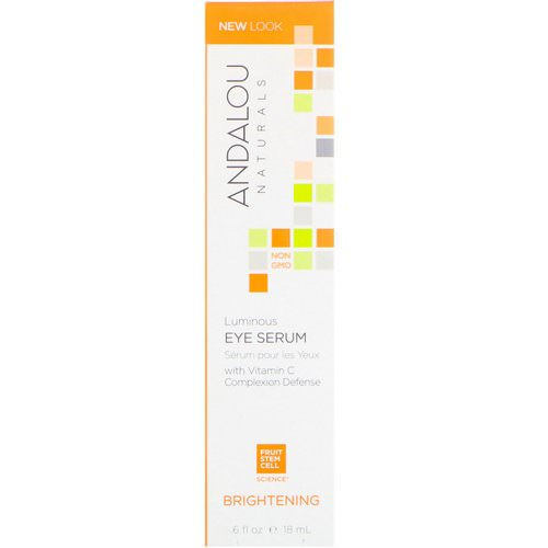 Andalou Naturals, Luminous Eye Serum, Brightening, .6 fl oz (18 ml) فوائد