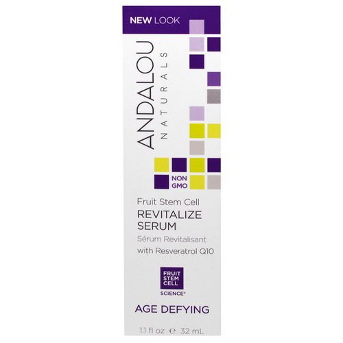 Andalou Naturals, Revitalize Serum with Resveratrol Q10, Age Defying, 1.1 fl oz (32 ml) فوائد