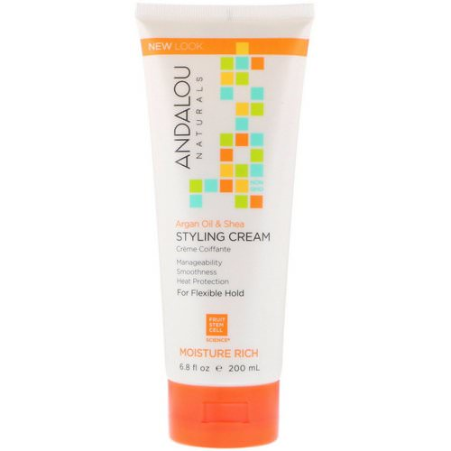 Andalou Naturals, Styling Cream, Argan Oil and Shea, Moisture Rich, 6.8 fl oz (200 ml) فوائد