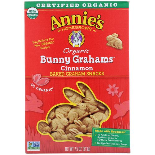 Annie's Homegrown, Organic Bunny Grahams, Cinnamon, 7.5 oz (213 g) فوائد