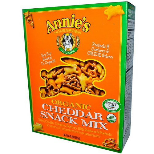 Annie's Homegrown, Organic, Snack Mix, Cheddar, 9 oz (255 g) فوائد