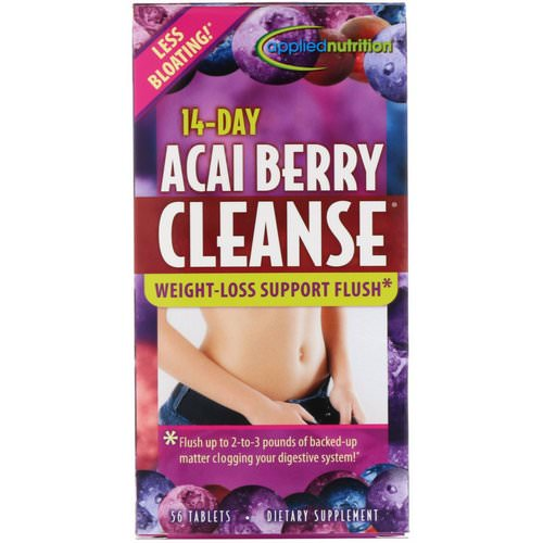 appliednutrition, 14-Day Acai Berry Cleanse, 56 Tablets فوائد