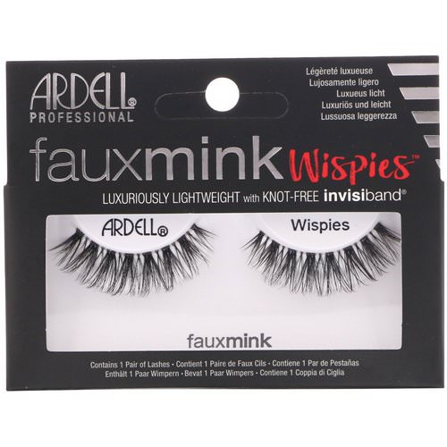 Ardell, Faux Mink, Wispies, 1 Pair فوائد