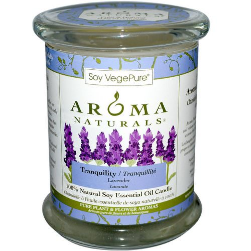 Aroma Naturals, 100% Natural Soy Essential Oil Candle, Tranquility, Lavender, 8.8 oz (260 g) فوائد