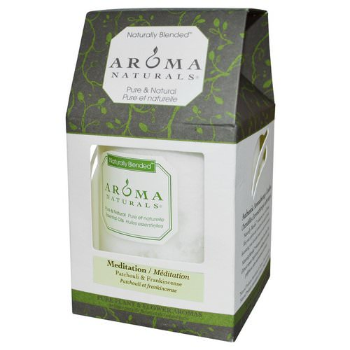 Aroma Naturals, Naturally Blended, Pillar Candle, Meditation, Patchouli & Frankincense, 3