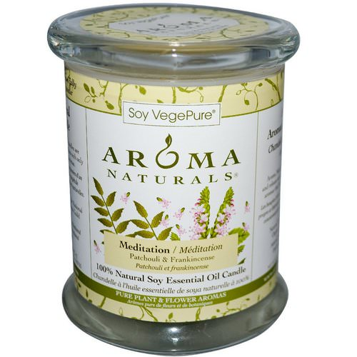 Aroma Naturals, Soy VegePure, 100% Natural Soy Pillar Candle, Meditation, Patchouli & Frankincense, 8.8 oz (260 g) فوائد