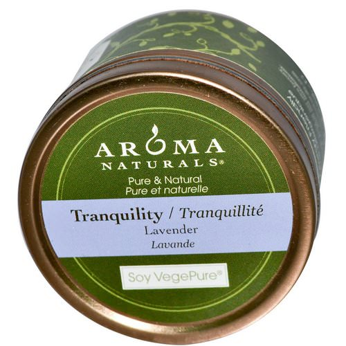 Aroma Naturals, Soy VegePure, Tranquility, Travel Candle, Lavender, 2.8 oz (79.38 g) فوائد