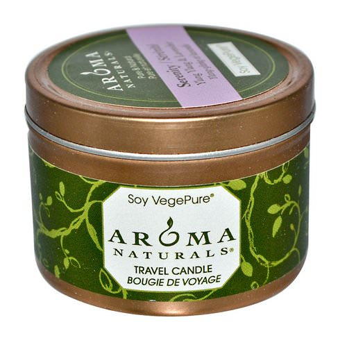 Aroma Naturals, Soy VegePure, Travel Candle, Serenity, Ylang Ylang & Lavender, 2.8 oz (79.38 g) فوائد