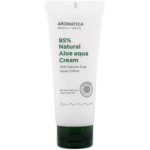 Aromatica, 95% Natural Aloe Aqua Cream, 5.2 oz (150 g) فوائد