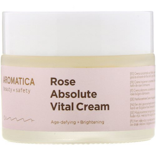Aromatica, Rose Absolute Vital Cream, 1.7 oz (50 g) فوائد
