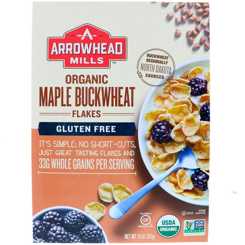 Arrowhead Mills, Organic Maple Buckwheat Flakes, Gluten Free, 10 oz (283 g) فوائد