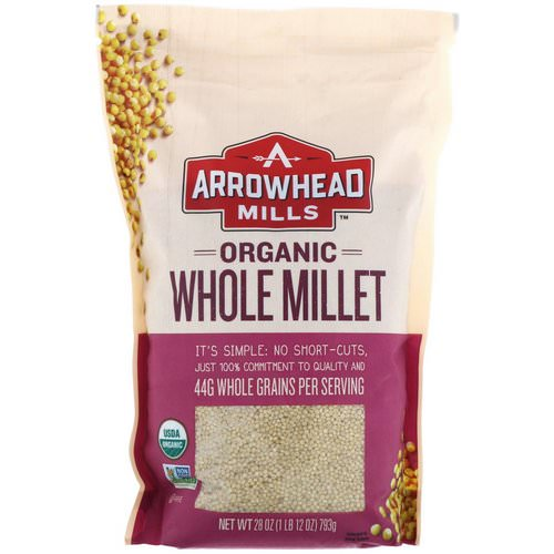 Arrowhead Mills, Organic Whole Millet, 1.75 lbs (793 g) فوائد