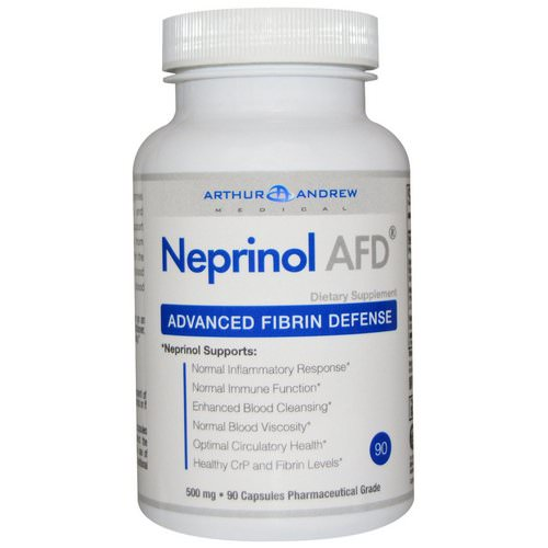 Arthur Andrew Medical, Neprinol AFD, Advanced Fibrin Defense, 500 mg, 90 Capsules فوائد
