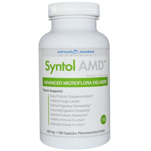 Arthur Andrew Medical, Syntol AMD, Advanced Microflora Delivery, 500 mg, 180 Capsules فوائد