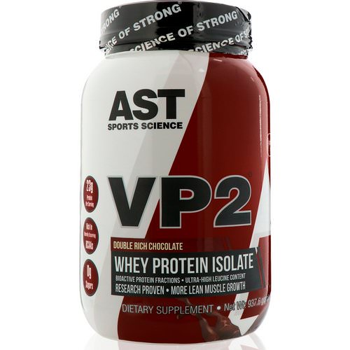 AST Sports Science, VP2, Whey Protein Isolate, Double Rich Chocolate, 2.07 lbs (937.6 g) فوائد