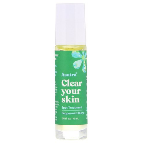 Asutra, Clear Your Skin, Spot Treatment, .34 fl oz (10 ml) فوائد