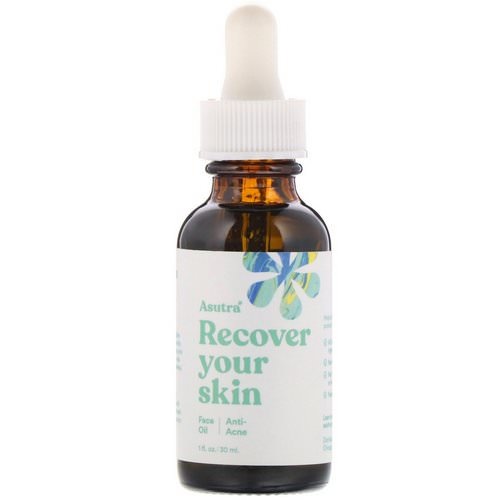 Asutra, Recover Your Skin, Anti-Acne, Face Oil, 1 fl oz (30 ml) فوائد