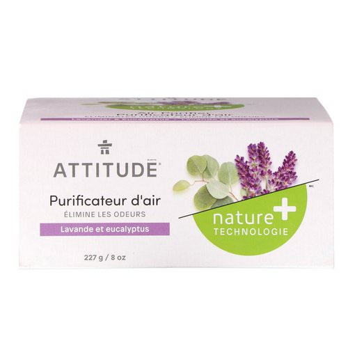 ATTITUDE, Natural Air Purifier, Lavender & Eucalyptus, 8 oz (227 g) فوائد