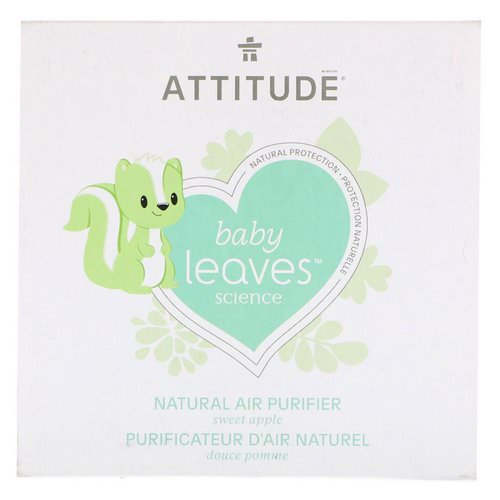 ATTITUDE, Baby Leaves Science, Natural Air Purifier, Sweet Apple, 8 oz (227 g) فوائد