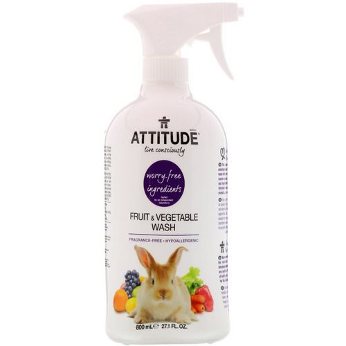 ATTITUDE, Fruit & Vegetable Wash, 27.1 fl oz (800 ml) فوائد