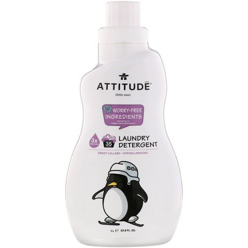 ATTITUDE, Little Ones, Laundry Detergent, Sweet Lullaby, 33.8 fl oz (1 l) فوائد